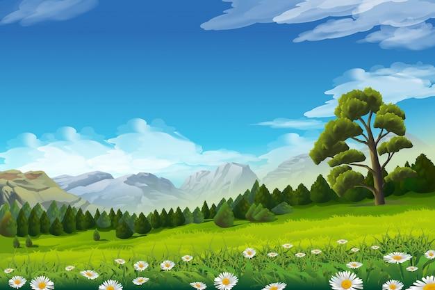 Spring landscape,
