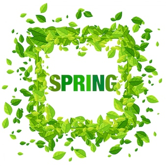 Spring and leaves design