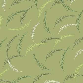 Spring leaves seamless pattern vector background.