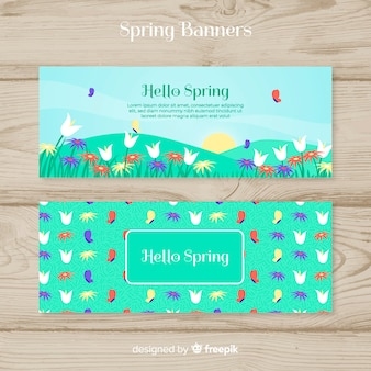 Spring party banner template