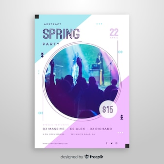 Spring party brochure
