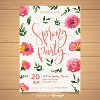 Spring party brochure