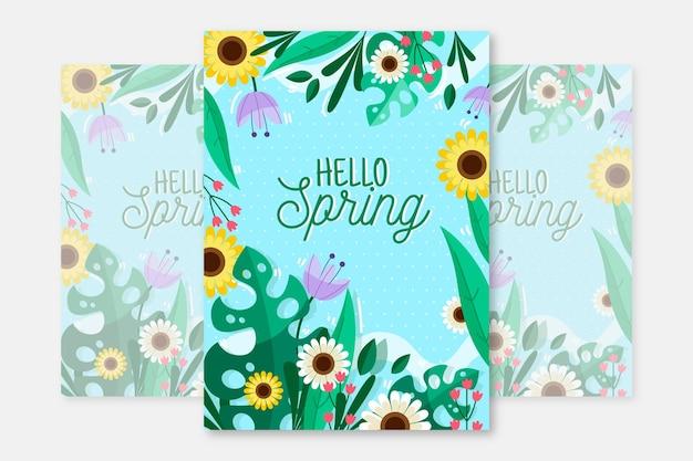 Modello di volantino festa di primavera