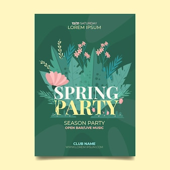 봄 파티 포스터