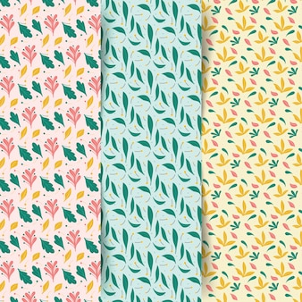 Spring pattern collection in flat design