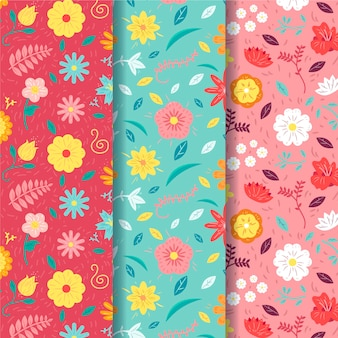 Spring pattern collection with flowers