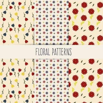 Цветочный spring минималистский pattern set