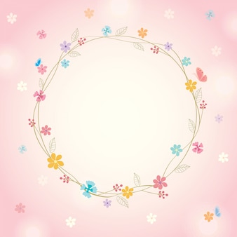 春のピンクの背景