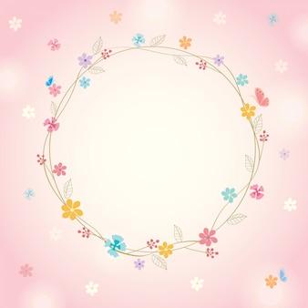 Весенний розовый фон