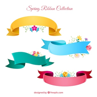 Spring ribbon set in four colors