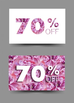 Spring sale background  banners with pink  flowers