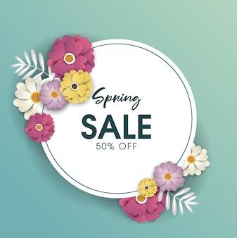 Spring sale background design