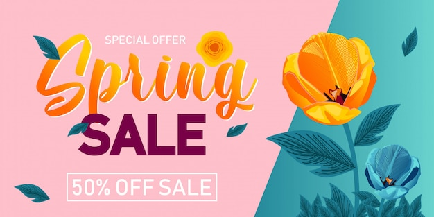 Spring sale background simple