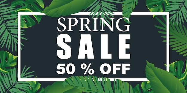 Spring sale background