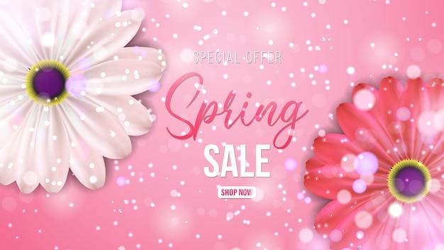 Spring sale background