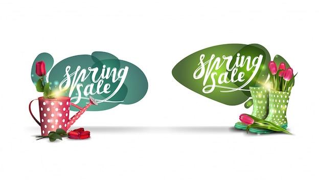 Spring sale badges