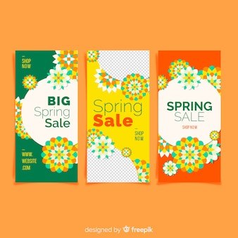 Spring sale banner collection