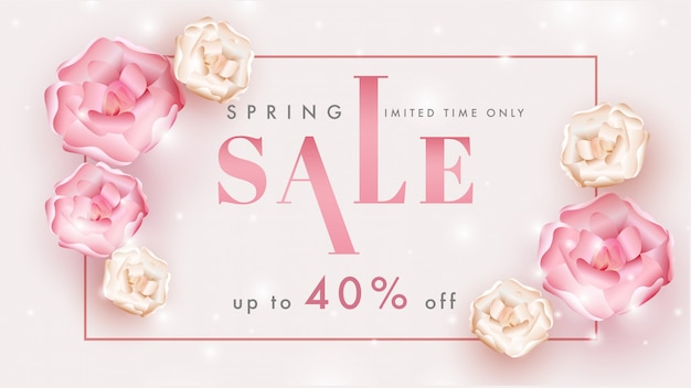 Spring sale banner or poster design