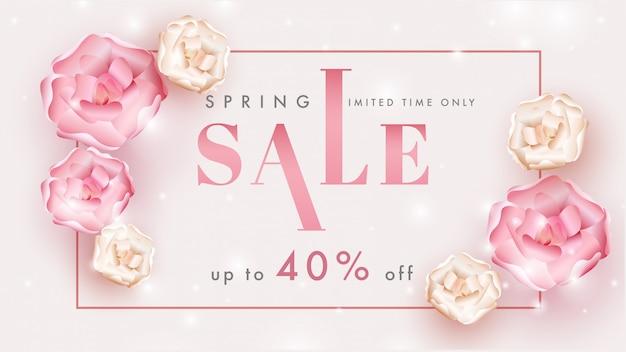 Spring sale banner or poster design