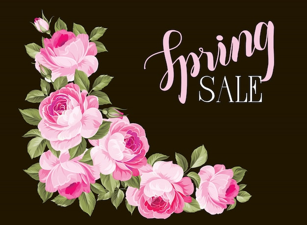 The spring sale card.