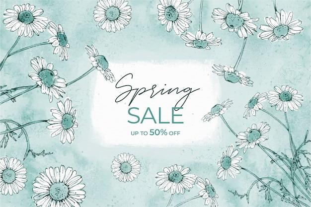 봄 판매 개념