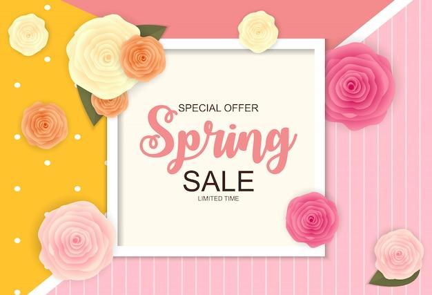 Spring sale cute banner