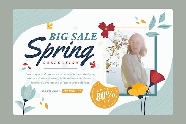 Spring sale flat design