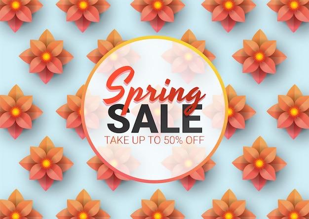 春のセールフローラル広告