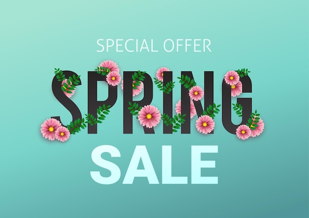 Spring sale floral advertizing