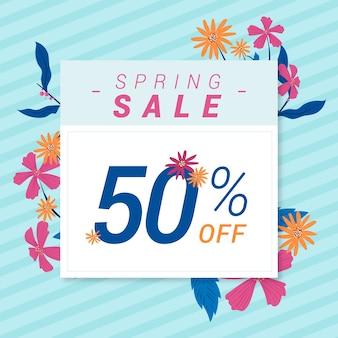 Spring sale in floral design