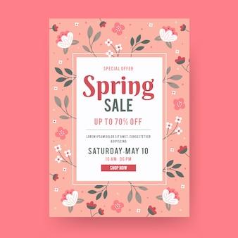 Spring sale flyer template design