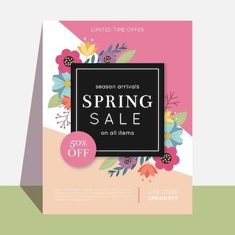 Modello di volantino di vendita di primavera
