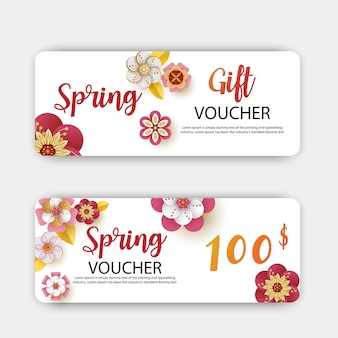 Spring sale gift vouchers discount.