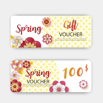 Spring sale gift vouchers discount