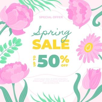 Disegnato a mano di vendita di primavera