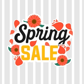 Spring sale illustration