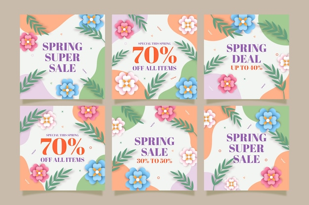 Spring sale instagram post collection