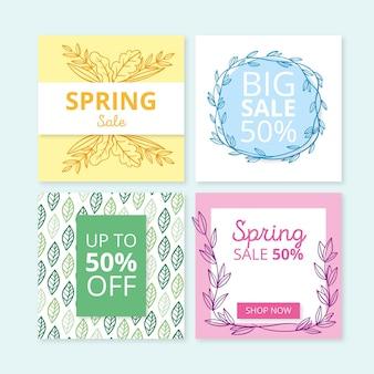 Post di instagram di vendita di primavera
