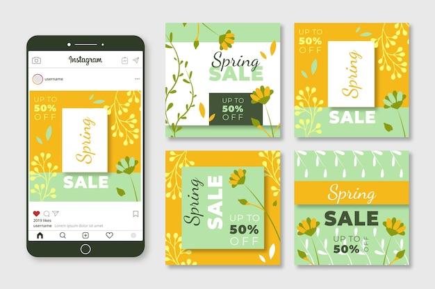 Spring sale instagram posts