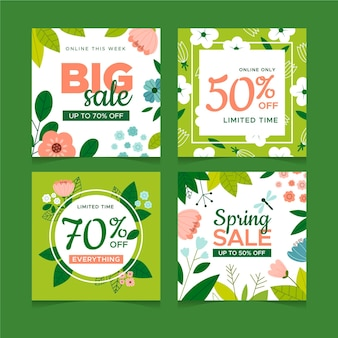 Spring sale instagram posts