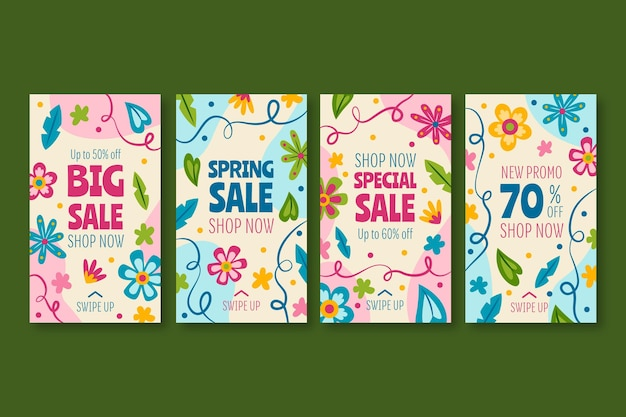 Storie di instagram di vendita di primavera