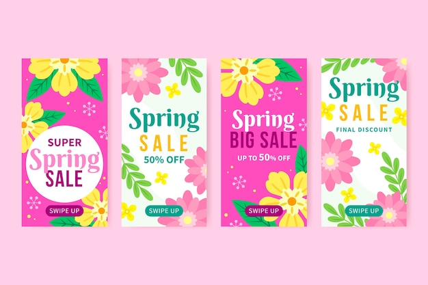 Spring sale instagram story collection theme