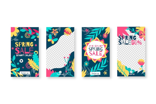 春のセールinstagramストーリーコレクション