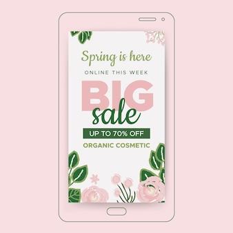 Storia di instagram di vendita di primavera