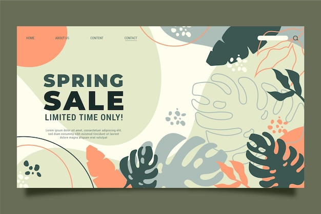 Spring sale landing page template