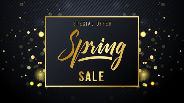 Spring sale luxury background