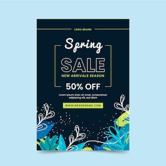 Modello di volantino per la nuova stagione disponibile di vendita di primavera