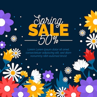Spring sale in paper style concept
