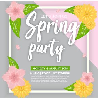 Spring sale party template