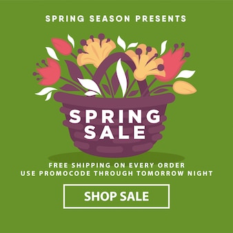 Spring sale poster web store template